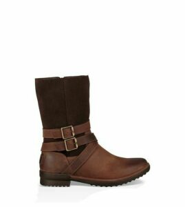 UGG Lorna Waterproof Leather Boot Womens Boots Coconut Shell 7