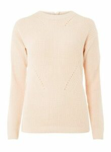 Womens **Tall Blush High Neck Zip Jumper- Pink, Pink