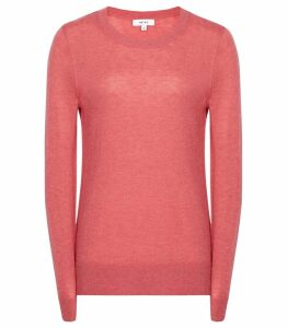 Reiss Maya - Crew Neck Jumper in Pink, Womens, Size XXL