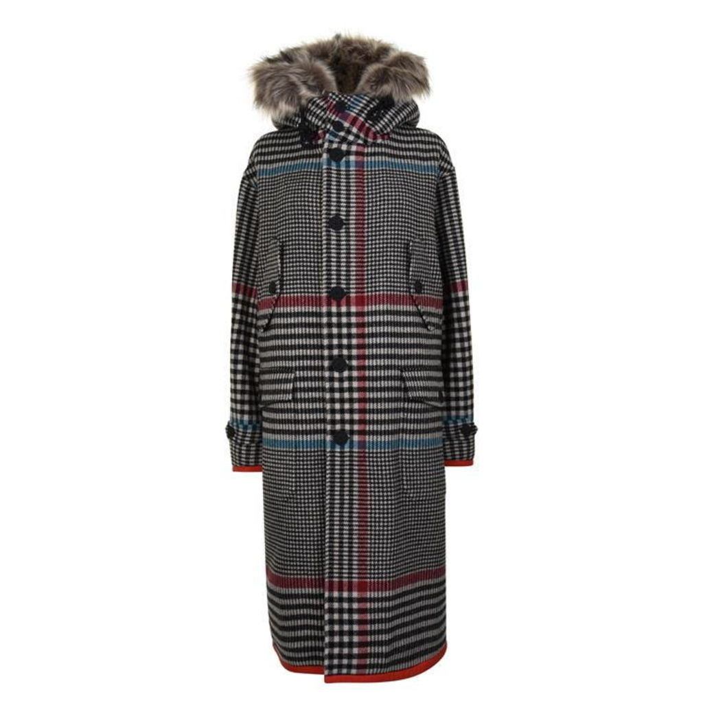HILFIGER COLLECTION Long Hooded Wool Jacket