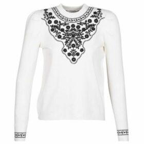Naf Naf  N-CHECHE  women's Sweater in White