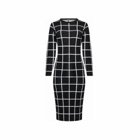 Rumour London - Esther Monochrome Checked Jacquard Dress