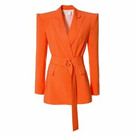 Manley - Tabby Silk & Leather Embellished Jacket Pink