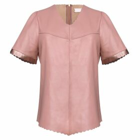 Manley - Alexa Leather Tee Pink