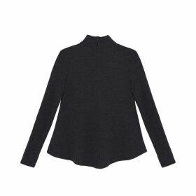 Lindsay Nicholas New York - Turtle Neck In Charcoal Gray