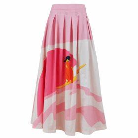 SABINNA - Blanket Scarf Pink Flower