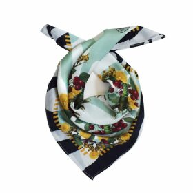 Texas and the Artichoke - Lobsters Pale Green Silk Scarf