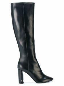 Saint Laurent heeled knee boots - Black