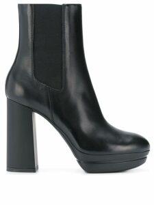 Hogan slip-on high heel boots - Black