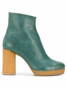 Chalayan platform 90mm ankle boots - Green