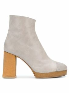 Chalayan platform ankle boots - Grey