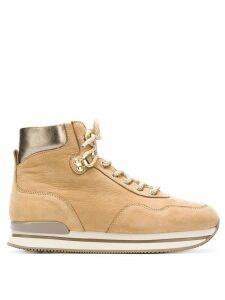 Hogan ankle lace boots - Neutrals