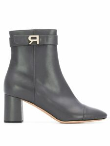 Rochas logo plaque boots - Grey