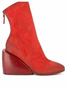 Marsèll wedge ankle boots - Red