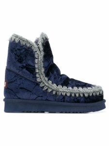 Mou quilted ankle boots - Blue