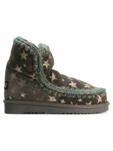 Mou star print boots - Green