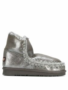 Mou whipstitched boots - Metallic