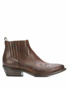 Etro carved ankle boots - Brown