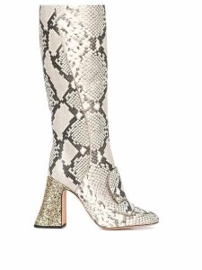 Rochas knee high boots - Grey