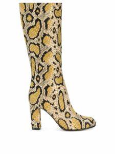 Etro leopard print boots - Yellow