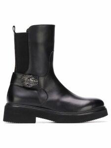 Baldinini studded buckle boots - Black