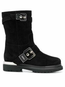 Baldinini silver buckled boots - Black