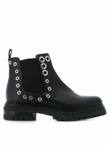 Sergio Rossi Crystal Moon boots - Black