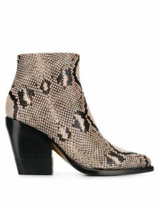 Chloé Rylee low boots - Neutrals