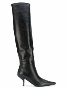 The Row thigh length pointed boots - Black
