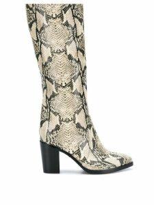 Schutz snakeskin design boots - Neutrals