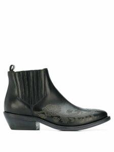 Etro embellished leather boots - Black