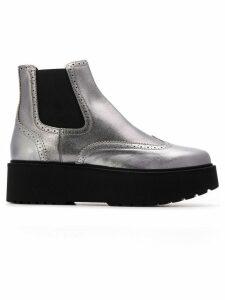 Hogan platform sole Chelsea boots - Grey