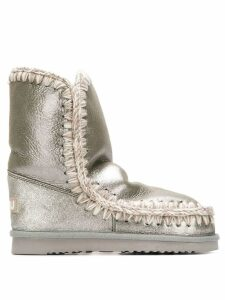 Mou whipstitched ankle boots - Grey