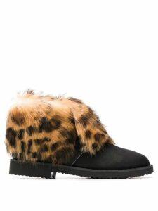 Giuseppe Zanotti Leopard ankle boots - Black