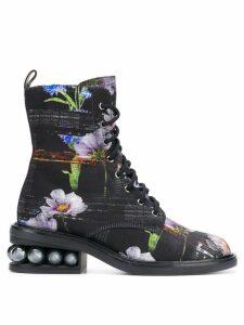 Nicholas Kirkwood Casati pearl combat boots - Black