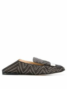 Sergio Rossi studded loafers - Brown