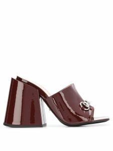 Gucci high-heeled slides - Red