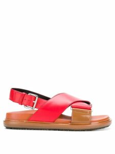 Marni crisscross sandals - Red