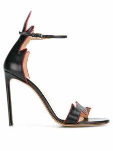 Francesco Russo high-heeled sandals - Black