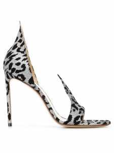 Francesco Russo leopard print sandals - Grey