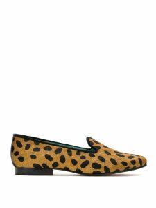Blue Bird Shoes Onça Dots slippers - Brown