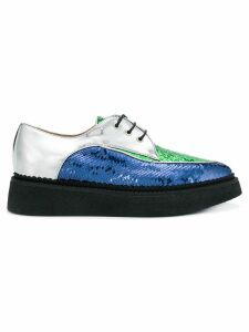 Nº21 sequin lace-up shoes - Blue