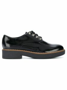 Geox varnished lace-up shoes - Black