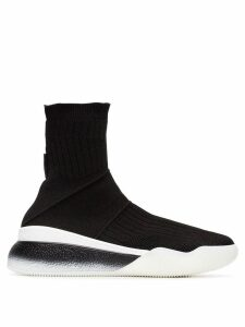 Stella McCartney stretch sock trainers - Black