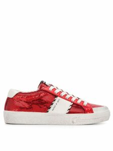 Moa Master Of Arts sequin logo sneakers - Red