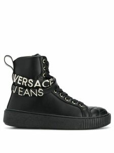 Versace Jeans Couture quilted hi-top sneakers - Black