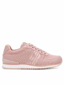 Emporio Armani patterned low-top sneakers - Pink