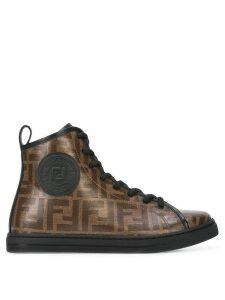 Fendi monogram hi-top sneakers - Black