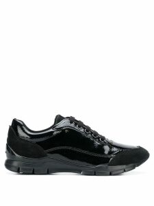 Geox varnished lace-up sneakers - Black