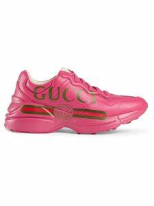 Gucci Rhyton Gucci logo leather sneaker - Pink